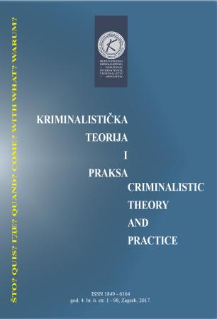 KRIMINALISTIČKA TEORIJA I PRAKSA – 6. BROJ