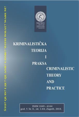 KRIMINALISTIČKA TEORIJA I PRAKSA – 8. BROJ